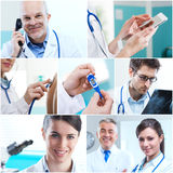 Medical collage. Various medical related images in a collage Royalty Free Stock Photography