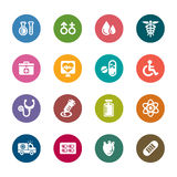 Medical Color Icon. A collection of different kinds of medical color icons. It contains hi-res JPG, PDF and Illustrator 9 files Stock Images