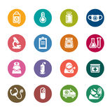 Medical Color Icon. A collection of different kinds of medical color icons. It contains hi-res JPG, PDF and Illustrator 9 files Royalty Free Stock Photos