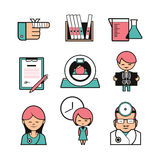 Medical color icons Royalty Free Stock Image