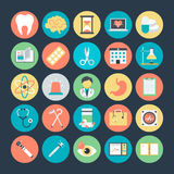 Medical Colored Vector Icons 3 Stock Images