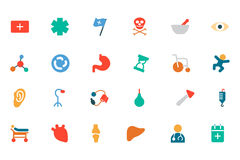 Medical Colored Vector Icons 3 Royalty Free Stock Photos
