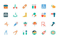 Medical Colored Vector Icons 3 Stock Photos
