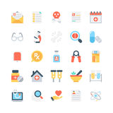 Medical Colored Vector Icons 4 Stock Image