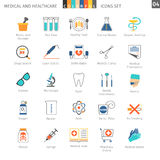 Medical Colorful Icons Set 04 Stock Photos
