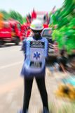 Medical commander of Emergency response team and rescue team save life the patient from car accident. royalty free stock photo