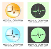 Medical company logos Royalty Free Stock Image