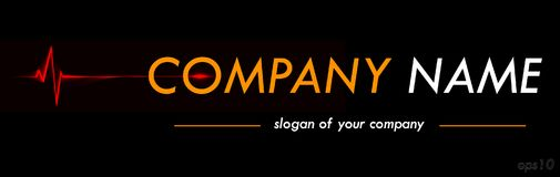 Medical company vector logo template, logotype for a company or Stock Photography