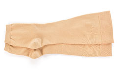 Medical compression stockings on white background. Royalty Free Stock Image