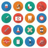 Icons of medical equipment. Medical concept background. Icons of medical equipment, diagnostics and medicine. Abstract medicine background. Illustration vector illustration