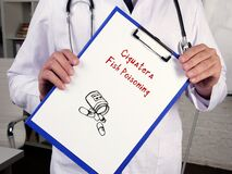 Medical concept about Ciguatera Fish Poisoning with inscription on the page