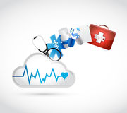 Medical concept cloud illustration design Royalty Free Stock Photography