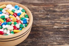 Medical concept the colorful medicine,pills Royalty Free Stock Image