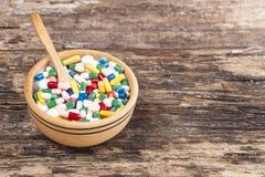 Medical concept the colorful medicine,pills Stock Photos