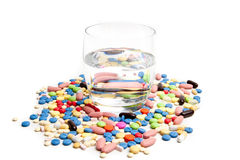 Medical concept created by pills . stock image