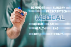 Medical concept with doctor and medical terms Stock Image