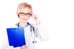 Medical concept. Doctor at work royalty free stock photography