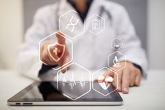 Medical concept. Health protection. Modern technology in medicine. Royalty Free Stock Images