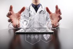 Medical concept. Health protection. Modern technology in medicine. Royalty Free Stock Image