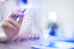Medical concept. Health protection. Modern technology in medicine. Medical concept. Health protection. Modern technology in medicine stock images