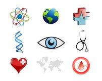 Medical concept icon set illustration Stock Photos