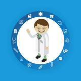 Medical concept icons Stock Photo