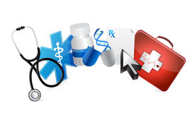 Medical concept illustration design Stock Photography