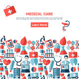 Medical concept with infographic elements Royalty Free Stock Image