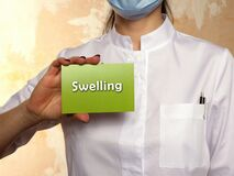 Medical concept meaning Swelling with sign on the page