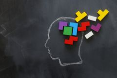 Free Medical Concept Of Brain Made From Wooden Puzzle Into Human Head. Idea Of Thinking, Workflow, Adhd And Learning Royalty Free Stock Image - 161059806