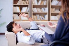 The medical concept with psychologist visit Stock Images