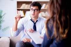 The medical concept with psychologist visit Stock Photos