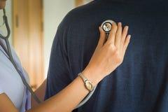 Medical. Concepts,Nurse check pulsation Royalty Free Stock Photos