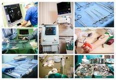 Medical conceptual collage Stock Photos