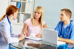 Medical consultation Stock Image
