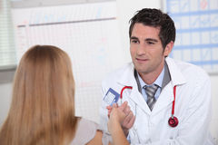 Medical consultation. With a doctor Royalty Free Stock Image