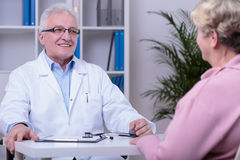 Medical consultation in doctor's office Royalty Free Stock Photography