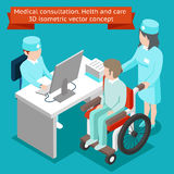 Medical consultation. Health and care 3D isometric Stock Photo