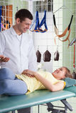 Medical consultation at physiotherapy clinic Royalty Free Stock Images