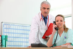 Medical Consultation. Between two doctors Stock Photo