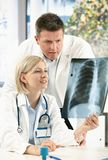 Medical consultation of x-ray image Royalty Free Stock Photography
