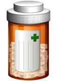 A medical container with tablets Royalty Free Stock Photo
