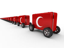 Medical Convoy. Of Red Crescent Society Stock Photo
