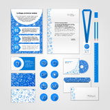 Medical corporate identity design with modern flat icons. Business set stationery Stock Image