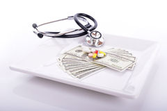 Medical costs Royalty Free Stock Photo