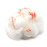 Medical cotton wool with traces of blood Royalty Free Stock Photography