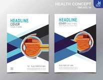 Flyer health leaflet brochure template A4 size design stock illustration