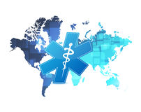 Medical coverage map illustration Royalty Free Stock Image