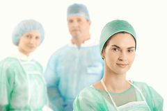 Medical crew in uniform Royalty Free Stock Images