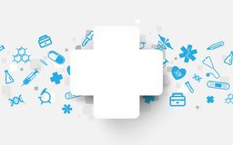 Free Medical Cross And Icons Technology Digital Hi Tech Concept Background. Royalty Free Stock Images - 119136439